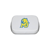 White Rectangular Peppermint Tin-MU w/Cougar Head
