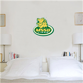 1 ft x 1 ft Fan WallSkinz-MSSU w/Lion Head On Top