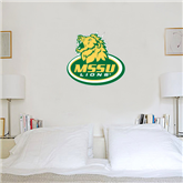 2 ft x 2 ft Fan WallSkinz-MSSU w/Lion Head On Top