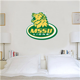 3 ft x 3 ft Fan WallSkinz-MSSU w/Lion Head On Top