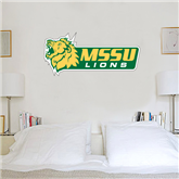 1.5 ft x 4 ft Fan WallSkinz-MSSU w/Lion Head