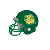 Riddell Replica Dark Green Mini Helmet-Lion Head