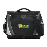 Slope Black/Grey Compu Messenger Bag-MSSU Lions w/Lion Head
