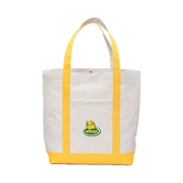 Contender White/Gold Canvas Tote-MSSU Lions w/Lion Head On Top