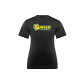Youth Syntrel Performance Black Training Tee-MSSU Lions w/Lion Head