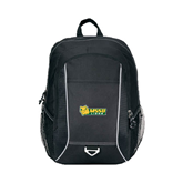 Atlas Black Computer Backpack-MSSU Lions w/Lion Head