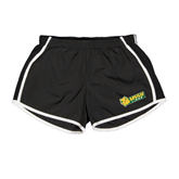 Ladies Black/White Team Short-MSSU Lions w/Lion Head