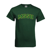 Dark Green T Shirt-Arched MSSU