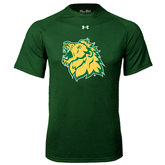 Under Armour Dark Green Tech Tee-Lion Head