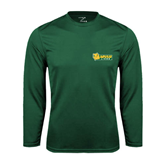 Syntrel Performance Dark Green Longsleeve Shirt-MSSU Lions w/Lion Head