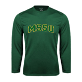 Syntrel Performance Dark Green Longsleeve Shirt-Arched MSSU