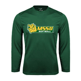 Syntrel Performance Dark Green Longsleeve Shirt-Softball