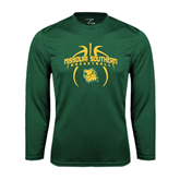 Syntrel Performance Dark Green Longsleeve Shirt-Design in Basketball
