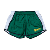 Ladies Dark Green/White Team Short-MSSU Lions w/Lion Head