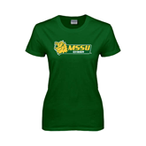 Ladies Dark Green T Shirt-Cheer