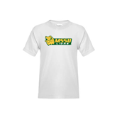 Youth White T Shirt-MSSU Lions w/Lion Head
