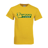 Gold T Shirt-MSSU Lions w/Lion Head