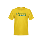 Youth Gold T Shirt-MSSU Lions w/Lion Head