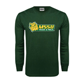 Dark Green Long Sleeve T Shirt-Track & Field