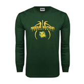 Dark Green Long Sleeve T Shirt-Design in Basketball