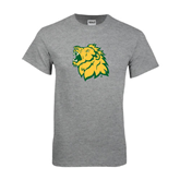 Grey T Shirt-Lion Head Distressed
