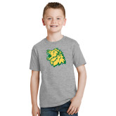Youth Grey T-Shirt-Lion Head