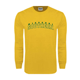 Gold Long Sleeve T Shirt-Arched Missouri Southern