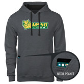Contemporary Sofspun Charcoal Heather Hoodie-MSSU Lions w/Lion Head