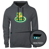 Contemporary Sofspun Charcoal Heather Hoodie-MSSU Lions w/Lion Head On Top