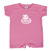 Bubble Gum Pink Infant Romper-MSSU Lions w/Lion Head On Top