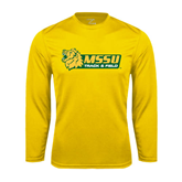 Syntrel Performance Gold Longsleeve Shirt-Track & Field