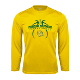 Syntrel Performance Gold Longsleeve Shirt-Design in Basketball