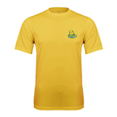Syntrel Performance Gold Tee-MSSU Lions w/Lion Head On Top
