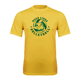 Syntrel Performance Gold Tee-Volleyball Circle Design