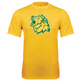 Performance Gold Tee-Lion Head