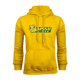 Gold Fleece Hoodie-MSSU Lions w/Lion Head