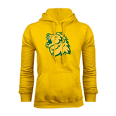 Gold Fleece Hoodie-Lion Head