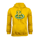 Gold Fleece Hoodie-MSSU Lions w/Lion Head On Top