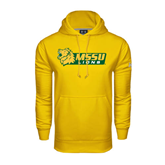 Under Armour Gold Performance Sweats Team Hoodie-MSSU Lions w/Lion Head
