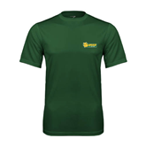 Performance Dark Green Tee-MSSU Lions w/Lion Head