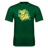 Performance Dark Green Tee-Lion Head
