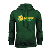 Dark Green Fleece Hood-MSSU Lions w/Lion Head