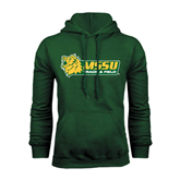 Dark Green Fleece Hood-Track & Field