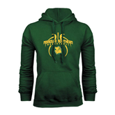 Dark Green Fleece Hood-Design in Basketball