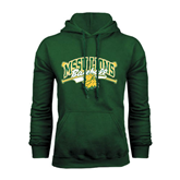 Dark Green Fleece Hood-Baseball Crossed Bats Design