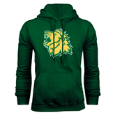 Dark Green Fleece Hood-Lion Head