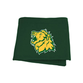 Dark Green Sweatshirt Blanket-Lion Head