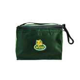 Six Pack Dark Green Cooler-MSSU Lions w/Lion Head On Top