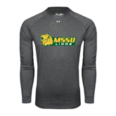 Under Armour Carbon Heather Long Sleeve Tech Tee-MSSU Lions w/Lion Head