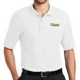 White Easycare Pique Polo-MSSU Lions w/Lion Head